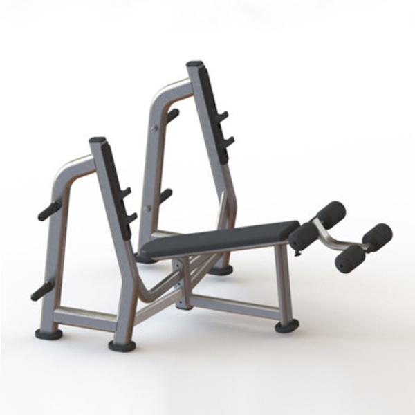 Олимпийская скамья с отрицательным наклоном M-024 Body Strong