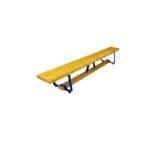 Скамейка гимнастическая 2000х270х350 мм, металлические ножки