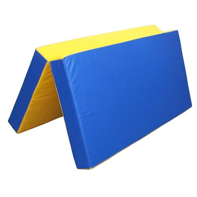 Мат гимнастический ППУ 18 кг/м3, 1х1х0,1 м, складной, иск. кожа