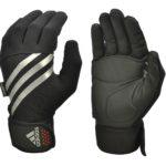Перчатки для фитнеса (с пальцами) Adidas утеплённые